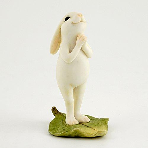 Top Collection Miniaturfigur Feengarten & Terrarium Yoga Hase in stehender Namastenspose, klein