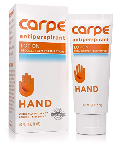 Carpe Antiperspirant Hand Lotion, A dermatologist-recommended, non-irritating, smooth lotion that helps…