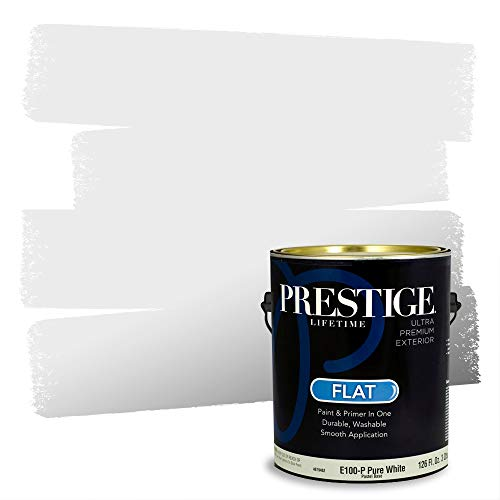 Prestige Exterior Paint and Primer in One, Ice Blue, Flat, 1 Gallon