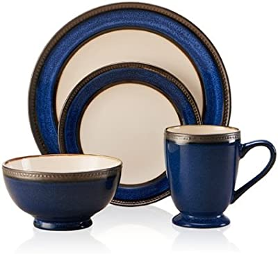 Pfaltzgraff Everyday Catalina Cobalt 16-Piece Dinnerware Set, Service for 4