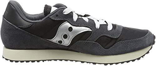 Saucony DXN Trainer Vintage, Sneaker Uomo, Nero (Blk/SIL 6), 43 EU