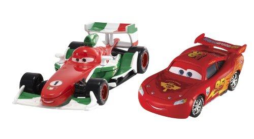 Cars - V2835 - Voiture Miniature - Cars 2 - 2 Véhicules - Francesco Bernouilli - Flash McQueen