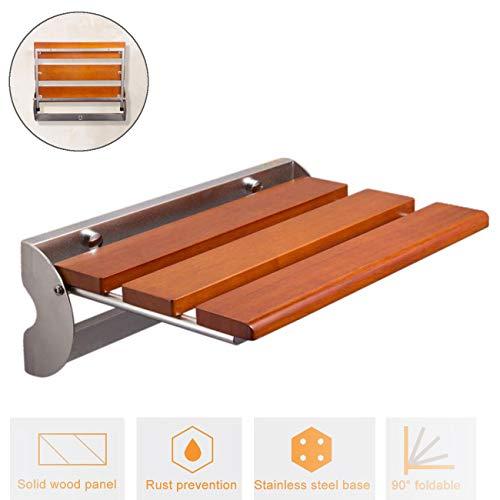 FXYY Moderne klapstoel van teakhout met douchezitting en douchestoel voor volwassenen en senioren