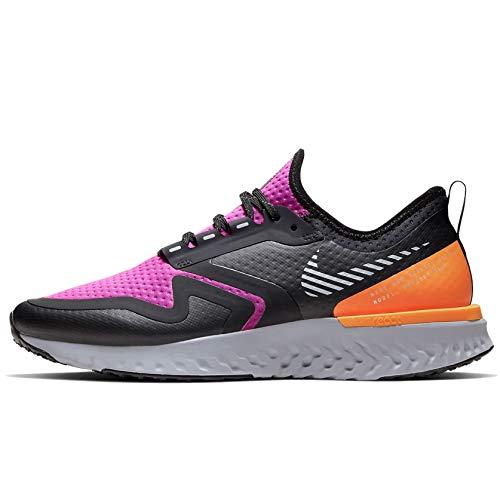 Nike Wmns Odyssey React 2 Shield, Scarpe Running Donna, Fire Pink/Metallic Silver/Black, 41 EU