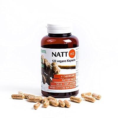 Natto BIO (Dried in Capsules) 120 Vegan Capsules - Vitamin K2mk7, Nattokinase, Soy Isoflavones, Probiotic Bacteria