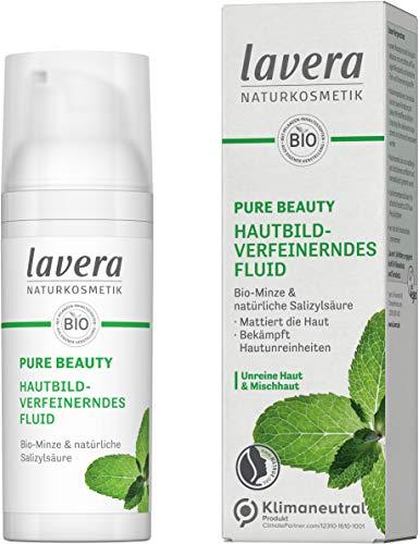 lavera PURE BEAUTY Hautbildverfeinerndes Fluid - reduziert Glanzbildung - bekämpft Hautunreinheiten - Naturkosmetik - vegan - 50ml