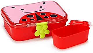 Skip Hop Baby Zoo Little Kid and Toddler Mealtime Lunch Kit Feeding Set, Multi, Livie Ladybug