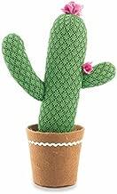 Villa d 'Este Home Tivoli Tropical Cactus, Tela, Verde Oscuro, 13x 13x 39cm