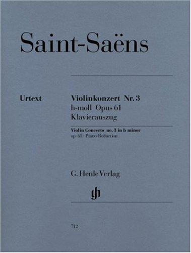Concerto pour violon No3 Opus 61 en si mineur --- Violon et Piano