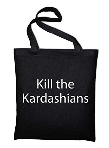 Styletex23 Kill the Kardashians Jutebeutel Baumwolltasche, schwarz