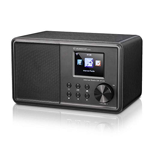 Albrecht DR 470 N - Radio internet FM con display a colori, Wi-Fi, DLNA