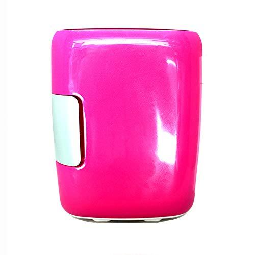 LAIDEPA El Mini Refrigerador Personal Compacto Portátil Retro 4L Enfría Y Calienta, Incluye Enchufes para Cargador de Coche de 12 V, Colores Caramelo,Rosado