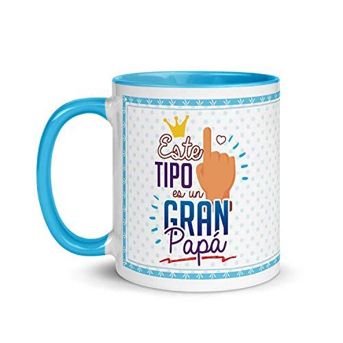 Kembilove Taza de Desayuno para Padre – Tazas Graciosas para Padres y Abuelos con Mensaje Este Tipo es un Gran Papá – Tazas de Desayuno para Regalar el día del Padre – Regalos Originales