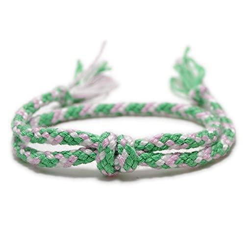 Pulseras de Cuerda tibetana Tejidas Simples y brazaletes para Hombres Mujeres Chic Tassel Knot Charm Pulsera de Amistad Hecha a Mano 3