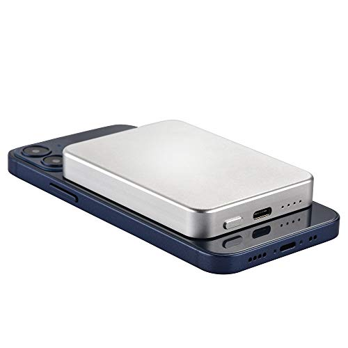 INNOLV iPhone用MagSafeバッテリーパックMagSafe互換のワイヤレスパワーバンク USB C 軽量 ミニポータブルパワーバンクiPhone Mini/SamsungなどQi互換デバイスに対応