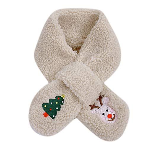 XuHang Schal für Kinder, Winter, Weihnachten, Loophole, Kreuzkragen, Schal, Cartoon,...