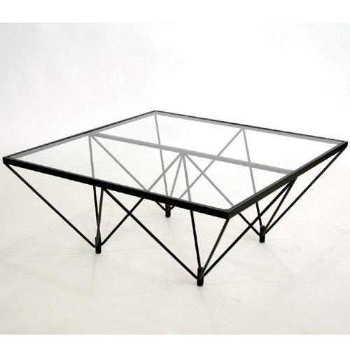 ルネセイコウ ダイニングテーブル クリアガラス 80×80×35 FT-35