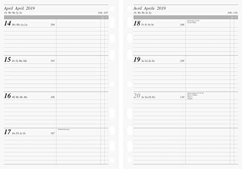 rido/idé 706991519 Wochenkalendarium 2019 Timeplaner work schwarz
