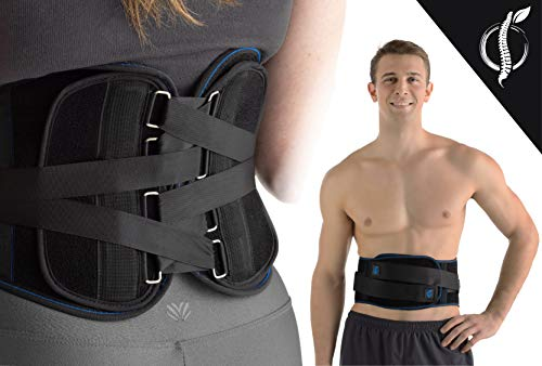 SOLIDBACK | Back Pain Relief | Compression Belt | Lower Back Brace | Chronic Lumbar Support | Sciatica | Herniated Disc | Spinal Stenosis | Scoliosis | Posture | Best Backbrace Gift for Men and Women