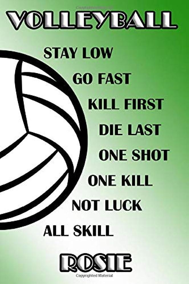 設計図はさみピクニックVolleyball Stay Low Go Fast Kill First Die Last One Shot One Kill Not Luck All Skill Rosie: College Ruled | Composition Book | Green and White School Colors
