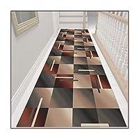 ZEMIN 廊下敷きカーペット、ホールエントランスフロアドアマット、滑り止め洗える廊下通路長階段ランナーラグカーペット、厚さ6mm (Color : A, Size : 0.9mx9m)