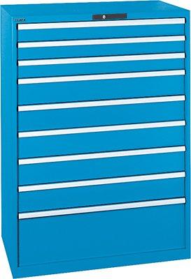 LISTA Schubladenschrank, Traglast/Schubl. 200 kg, 9 Schubladen: 3x100,5x150,300 mm, Zylinderschloss,...