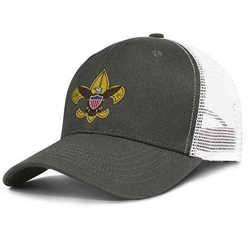 Unisex Boy Scouts Adjustable Snapback Fashion Baseball Caps Mesh Hats Trucker Hat Dad Cap