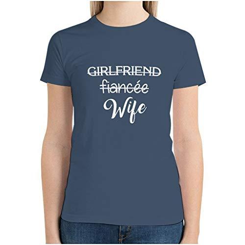 Ballbollbll Camiseta de manga corta de algodón con cuello redondo para mujer, regalo para chicos para casa informal o gimnasio, Eurocode