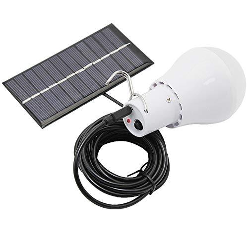 Lumière Solaire Ampoule LED Portable, Lumière De Charge Solaire, Convient À La Maison Hangar Entrepôt Intérieur d'urgence Tente d'escalade Camping Nuit Travail Lumière