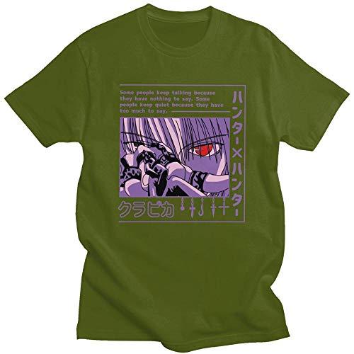 Camiseta única de Hunter X Hunter para Hombres de Manga Corta Anime Manga Kurapika HxH Devil Eye Camiseta 100% algodón Camisetas Idea de Regalo-C7_2XL