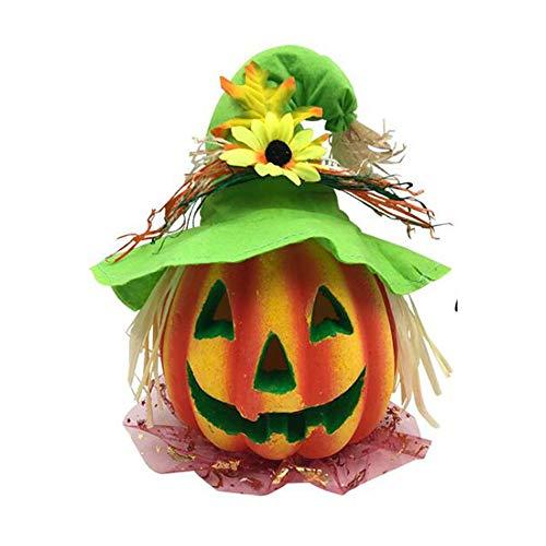 ZXjuan lantaarn voor Halloween, hoed met pompoenlampen, grappig, pompoen