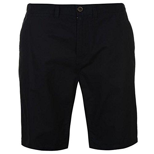 Pierre Cardin Hommes 100% Coton Classique Tressé Ceinture Chino Shorts (Large, sans Ceinture - Navy)