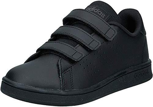 Adidas Advantage C, Zapatillas de Tenis Unisex niño, Multicolor (Negbás/Negbás/Grisei 000), 33 EU