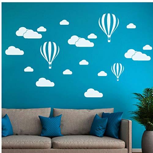 Zonster New White Clouds Montgolfières Wall Sticker pour Les Chambres d'enfants agrandi Art Stickers muraux Décoration Stickers Mural Living Chambre