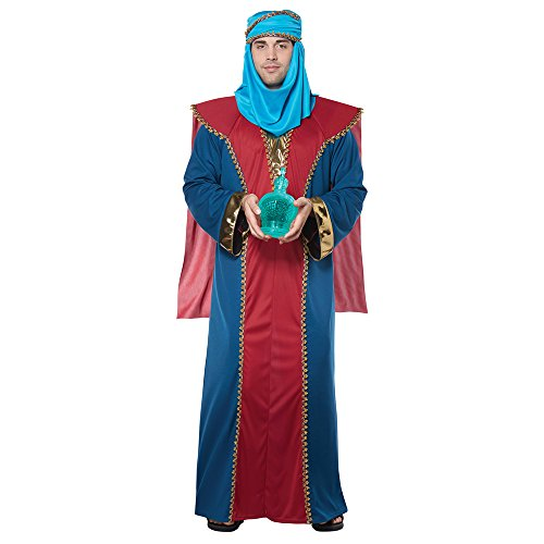 California Costumes Men's Balthasar, Wise Man (Three Kings) - Adult Costume Adult Costume, -Red/Blue, Large/Extra Large