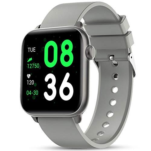 Smart Körpertemperaturerfassung Armband Sport Wasserdichtes Call Reminder Mit Full Touch Screen Bluetooth Uhr Mit Schlaf + Blut-Sauerstoff Überwachung/Herzfrequenz,Grau