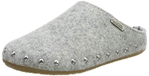 Living Kitzbühel Mädchen Pantoffel Filz mit Nieten mit Fußbett Pantoffeln, Grau (Nebel 0622), 28 EU