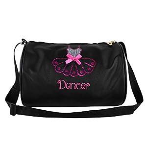 iiniim Bolsa de Ballet Deporte Niña Bolsa Infantil Danza Lentejuelas Brillante Tote Bandolera Mochila Personalizada…