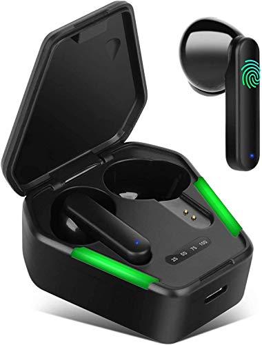 Cuffie Bluetooth 5.0, Uplayteck Auricolari Bluetooth Senza Fili, Modalità Gioco/Musica, 60ms Bassa Latenza CVC 8.0 Riduzione Del Rumore, Stereo HIFI, Per giochi/corsa/palestra