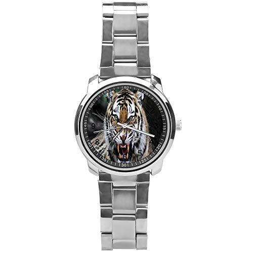 Soloatman Afrikanische Uhr Mode Uhr Stahl Quarz Jungen Herren Uhr