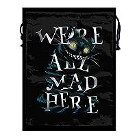 シューズバック 靴収納袋 収納バッグ チェシャ猫 巾着袋 シューズサック 防水 ジム 服入れ ジュエリーポーチ 小物入れ アクセサリー入れ ラッピング ジムバッグ 旅行 プレゼント用 引きひも袋 給食袋 ギフトバッグ