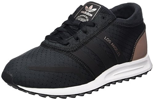 adidas Damen Los Angeles Sneakers, Schwarz (Core Black/Core Black/Vapour Grey Met.), 38 EU