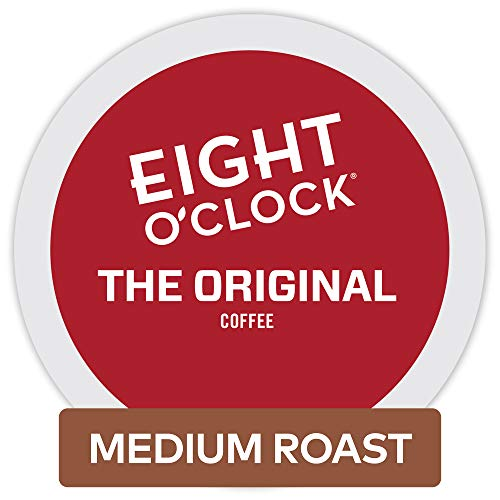 Eight O'Clock Coffee The Original, Single-Serve Coffee K-Cup Pods, Medium Roast, 12 Count (Pack of 6)