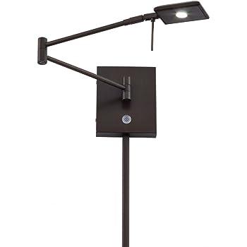 Nickel//Nickel P4328-084 Minka George Kovacs Reading Room LED Swing Wall Lamp