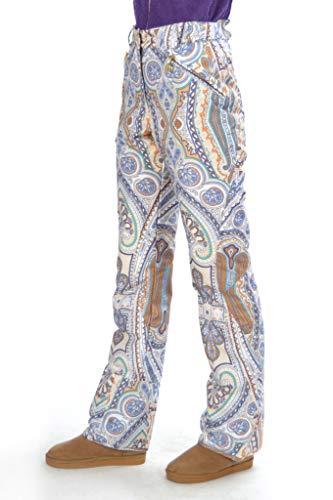 Stayer Skihose Damen Ornamente Bunt Thermo-Hose Winter-Sport-Hose Ornament Indianer Lila Muster (L)