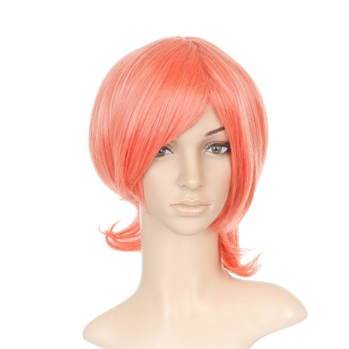 rose courte Length Anime Costume Cosplay perruque