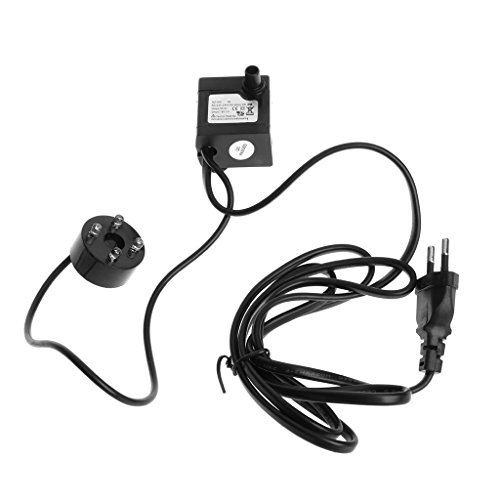 Lwl220 AC 220 V 3 W Bomba de agua sumergible LED Acuario Fuente Pez Estanque Depósito EU Plug