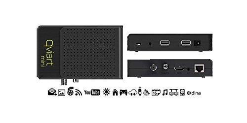 QviART Mini QVI01004 - Receptor satélite HD (USB, HDMI, IEEE 802.3u), color negro