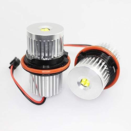 Xenon - Bombilla LED para BMW E39/E60/E61 (32 W, 2 Unidades), diseño de Ojos de ángel, Color Blanco