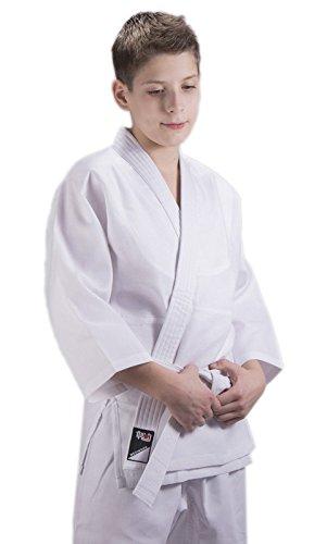 Ippon Gear–Traje de Judo Infantil Beginner, Todo el año, Infantil, Color Blanco - Blanco, tamaño 100